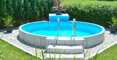 Hochwertige aufstellbecken stahlwand folienbecken f r for Stahlwand schwimmbad